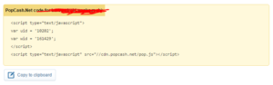 source code ads popcash
