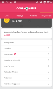 bukti pembayaran coin monster