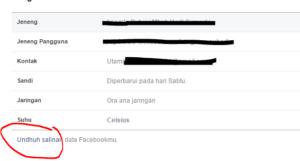 tutorial back up data facebook 2