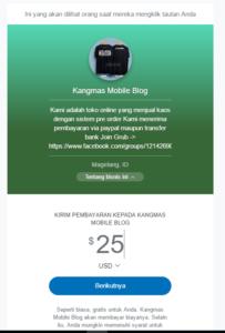 cara membuat halaman personal payment paypal me