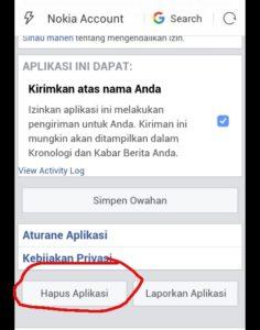 cara menghilangkan spam di facebook android 4