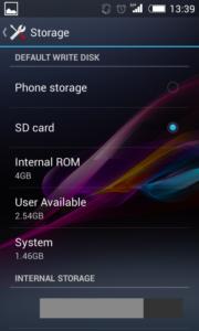 cara mengubah penyimpanan internal ke eksternal atau Sd Card MMC 2