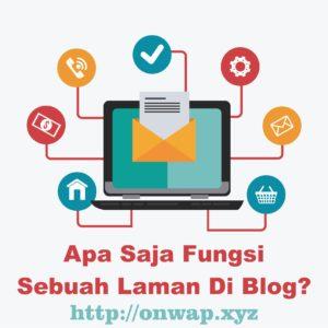 cara membuat dan fungsi laman di blogger maupun wordpress