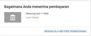 cara setting pembayaran google adsense menggunakan bank lokal
