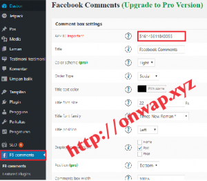 Cara Membuat Komentar Facebook Di Blog WordPress Self Hosted 3