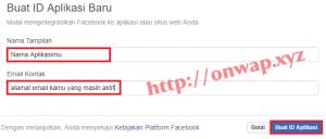 cara membuat aplikasi facebook terbaru 1