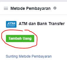 cara mengisi saldo fb ads menggunakan bank lokal 1