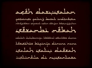 Download Kumpulan Font Mirip Huruf Arab Keren Untuk Picsay, Photoshop & Corel Draw 1