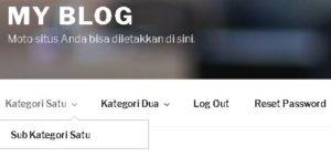 Cara Membuat Menu Di Blog WordPress Self Hosted 4