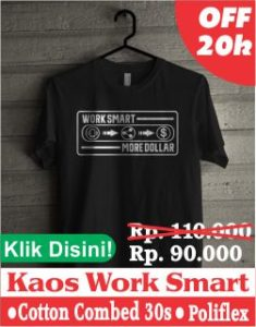 kaos work smart more dollar 250 x 320