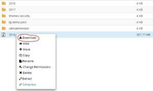 Cara Mengunduh Semua File Di WordPress Lewat Cpanel 7