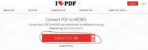 cara mengubah file pdf menjadi word lewat online