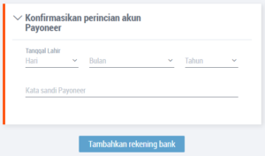 Cara Menambahkan Rekening Bank Lokal Di Payoneer 2