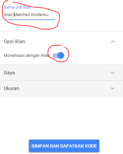 cara memasang iklan matched content adsense di blog wordpress self hosted 3