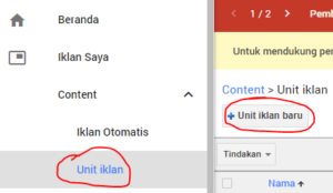 cara memasang iklan matched content adsense di blog wordpress self hosted