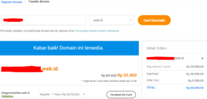 cara mengganti domain blog menjadi .id 1