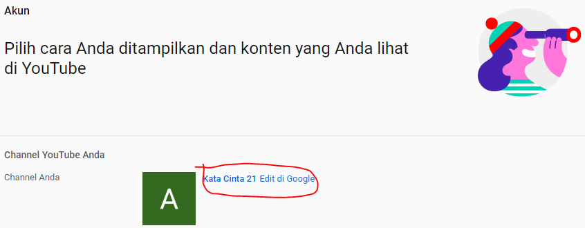 Cara Mengganti Nama Channel Youtube 3
