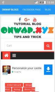 Aplikasi Tutorial Blog, Wapka, Android dan HTML ( Onwap Blog ) Playstore 2
