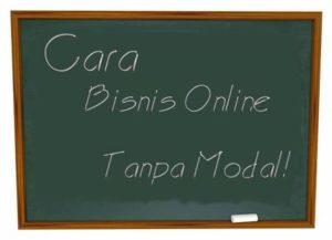 cara bisnis online tanpa modal gratis tanpa resiko