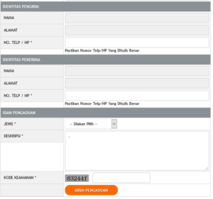 Form Keluhan Pelanggan ( Call Center Kantor Pos Indonesia ) 1