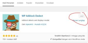 cara memasang adblock di blog wordpress 2