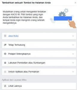 cara membuat ajakan bertindak di halaman atau fanspage facebook 1