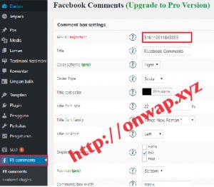 Cara Membuat Komentar Facebook Di Blog WordPress Self Hosted 3