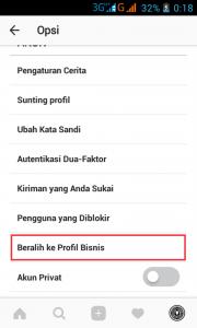 cara mengganti profil bisnis di instagram