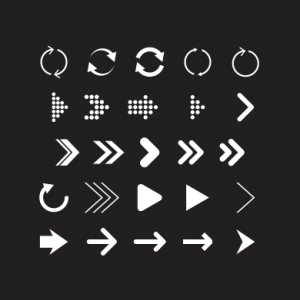 download mentahan picsay pro keren modern arrow icon pack
