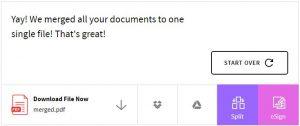 cara menggabungkan beberapa file pdf terpisah secara online tanpa software 2
