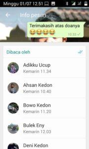 Cara Cek Orang Yang Sudah Membaca Kiriman Di Grub Whatsapp 3