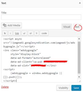 cara memasang iklan matched content adsense di blog wordpress self hosted 7