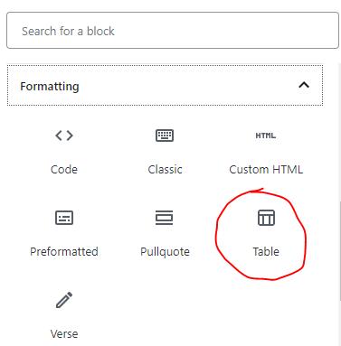 Cara Membuat Table Di Postingan Menggunakan Gutenberg WordPress 1