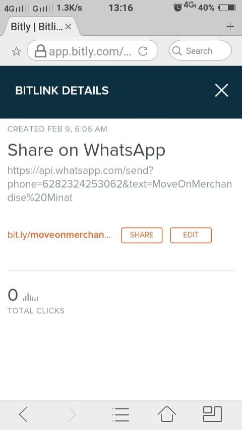 Cara Membuat Custom Short Url Whatsapp Di Bitly Untuk Link Bio Instagram 08