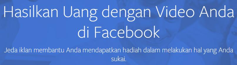 Cara Dapat Uang Dari Facebook Terbaru 2019 Lewat FB Ads Break!
