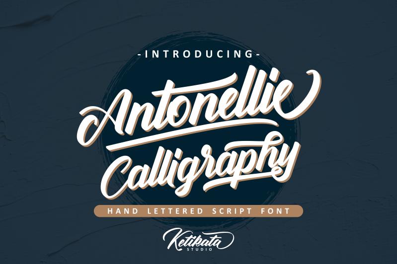 Kumpulan Font Terbaru Terbaik Bulan Maret 2019 antonellie_calligraphy