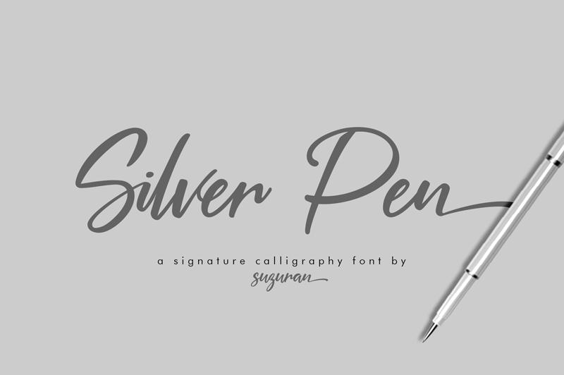 Kumpulan Font Terbaru Terbaik Bulan Maret 2019 silver_pen