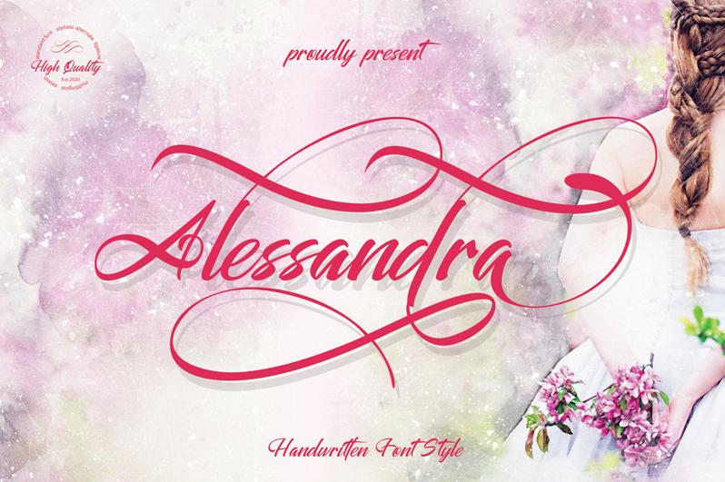 Kumpulan 5 Font Keren Terbaik Terbaru 2020 Part 2 Alessandra
