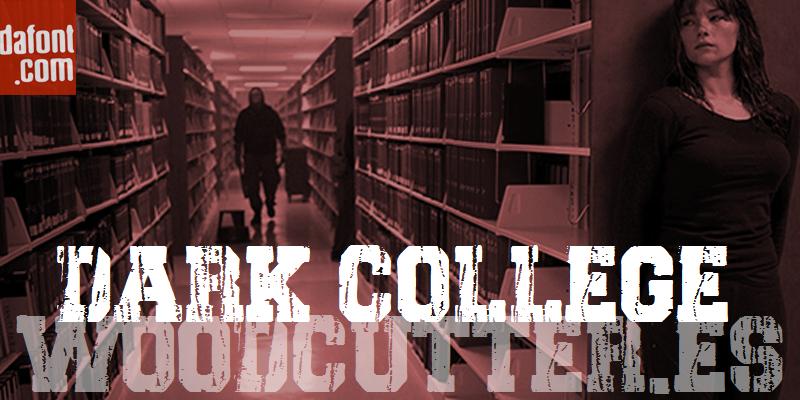 Kumpulan 5 Font Untuk Desain Kaos Casual Keren Terbaik Terbaru Dark College