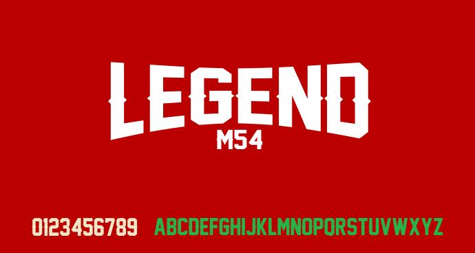 Kumpulan 5 Font Untuk Desain Kaos Casual Keren Terbaik Terbaru Legend m54