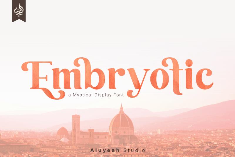 Kumpulan 5 Font Unik Terbaik Terbaru Paling Populer Embryotic