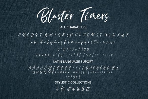 Kumpulan 7 Font Latin Mirip Tanda Tangan Terbaik Terbaru Blaster Times