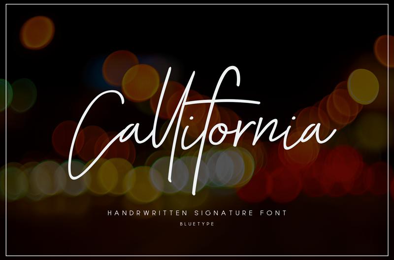 Kumpulan 7 Font Latin Mirip Tanda Tangan Terbaik Terbaru Callifornia
