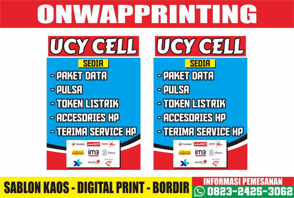 Download Contoh Desain Banner Konter Pulsa & Accesories Handphone CDR Gratis Terbaru 02