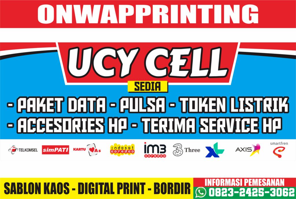 Download Contoh Desain Banner Konter Pulsa & Accesories Handphone CDR Gratis Terbaru