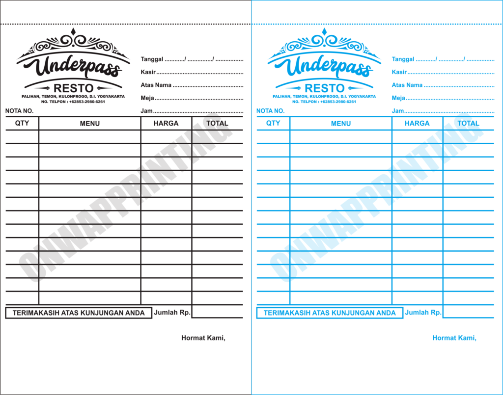 Download Contoh Desain Nota CDR Gratis