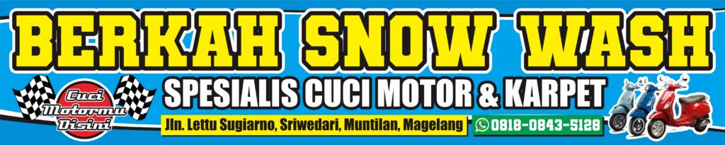 Download Contoh Desain Spanduk Banner Cuci Motor CDR Gratis